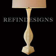 MODERN HUGE ITALIAN MARBLE COLUMN SCULPTURE SAFRAN & GLUCKSMAN TABLE LAMP 1950's