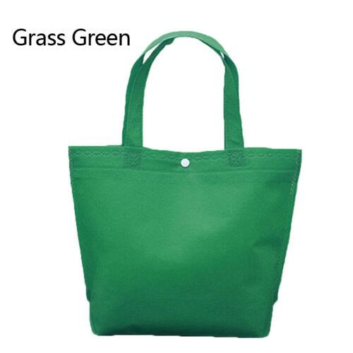 Foldable Button Shopping Bag Tote Pouch Women Travel Storage Handbag Reusable