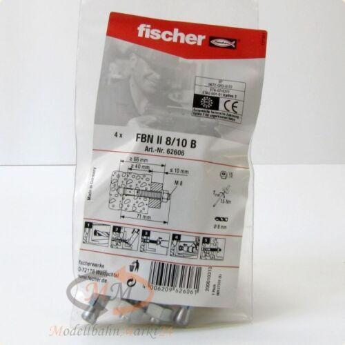 NEU FISCHER Dübel 62606 Bolzenanker FBN II 8//10 B VPE = 4 Stück