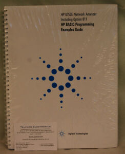 Details about Agilent Technologies HP8753E Network Analyzer BASIC  Programming Examples Guide