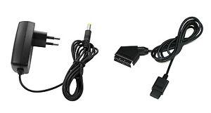 Super-Nintendo-RGB-Scart-Kabel-Netzteil-AC-Adapter-Stromkabel-fuer-SNES