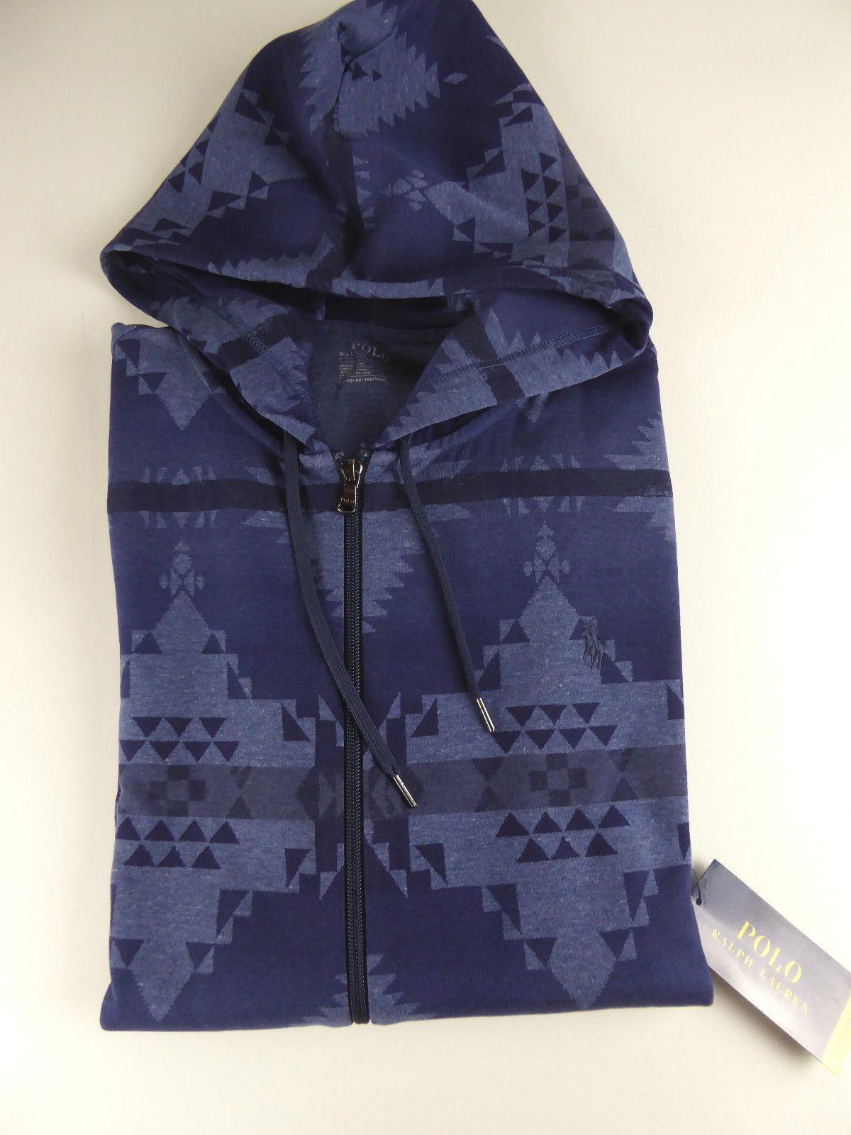 Polo Ralph Lauren Performance Double Knit Southwest Indigo Trail Hoodie NWT 125