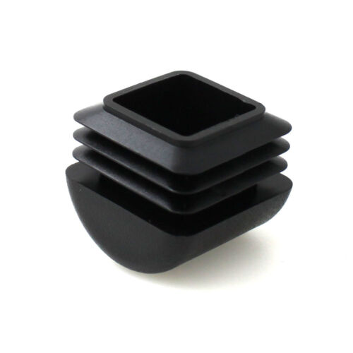 20mm Square Domed Plastic Inserts End Caps For Metal Furniture Table  Chair Legs
