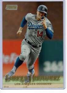 Enrique-Hernandez-2019-Topps-Stadium-Club-5x7-Gold-103-10-Dodgers