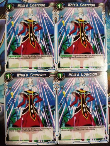 Whis/'s Coercion 4x BT1-055 C Dragon Ball Super PLAYSET