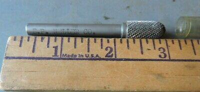"Burr 16-B-CC Heller 1//2/"" Carbide Cylindrical Ball Nose Bur w// 1//4/"" Shank E.P"