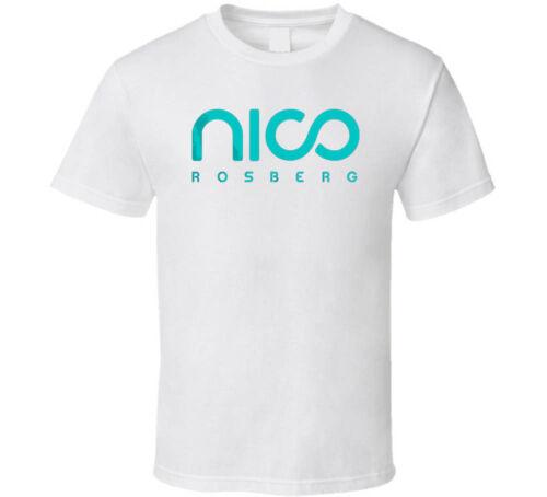Nico Rosberg 2016 F1 Champion shirt black white tshirt men/'s free shipping