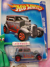 2009 Hot Wheels '32 FORD VICKY 1932 #138 ~steel-blue;metal M;red 5sp~Rebel Rides