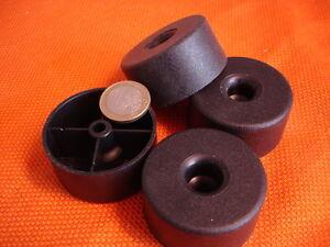 12-Stueck-Polsterfuss-Moebelgleiter-Moebelfuesse-Kunststoff-schwarz-50x25-mm-hoch-NEU