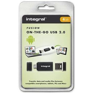Integral-USB-OTG-Adaptador-con-4gb-Fusion-2-0-unidad-flash-USB-INCLUIDO