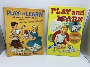 Play and Learn - Vintage coloring / activity book lot BONNIE RUTHERFORD