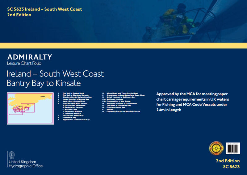 ADMIRALTY LEISURE CHART FOLIO - SC5623 IRELAND SW COAST BANTRY BAY TO KINSALE