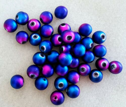Gorgeous 2-tone Pink//Purple 50gms Glass Spherical Spacer Beads 10mm Diametre