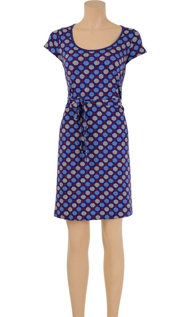 King Louie Kleid Ella dress Anchor Anker-Muster blau marine mit Gürtel 6118653