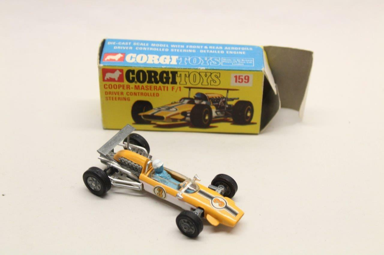 CORGI TOYS 159 COOPER-MASERATI F1 CAR W  BOX COLLECTABLE METAL CAR G5