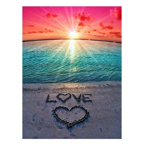 DIY 5D Diamond Painting Kits for Adults Full Drill Love in the Sand