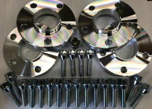 BULLONI SERRATURE X4 per BMW E24 E63 E64 E31 20mm Silve M12 72.6 RUOTA in lega Distanziatori