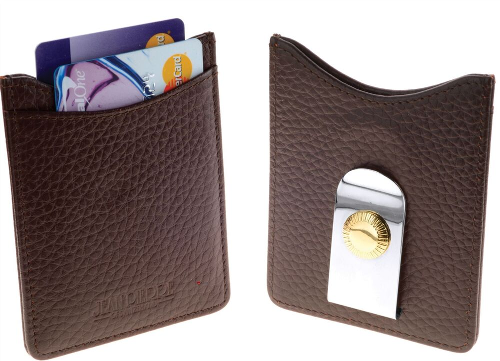 Frugal Credit Card Holder Dans Brown Leather Wallet With Money Clip-digitale Poison Box Complet Dans Les SpéCifications
