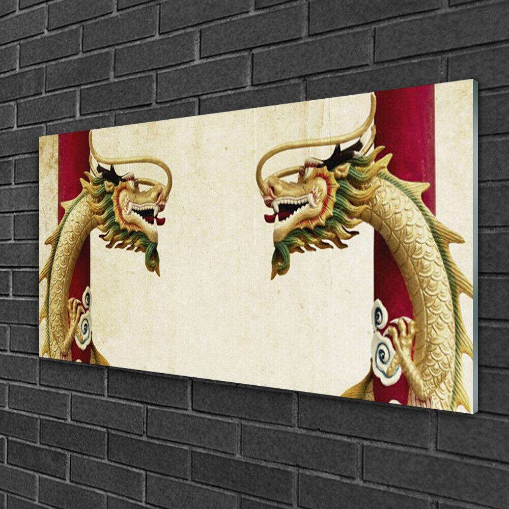 Image sur verre Tableau Impression 100x50 Art Dragon