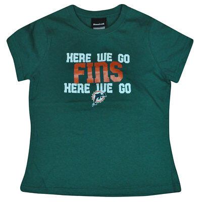 PräZise Nfl Reebok Miami Dolphins Mädchen Jubel T-shirt Fußball T-shirt Dk6111 L 14 Ausgereifte Technologien Weitere Ballsportarten