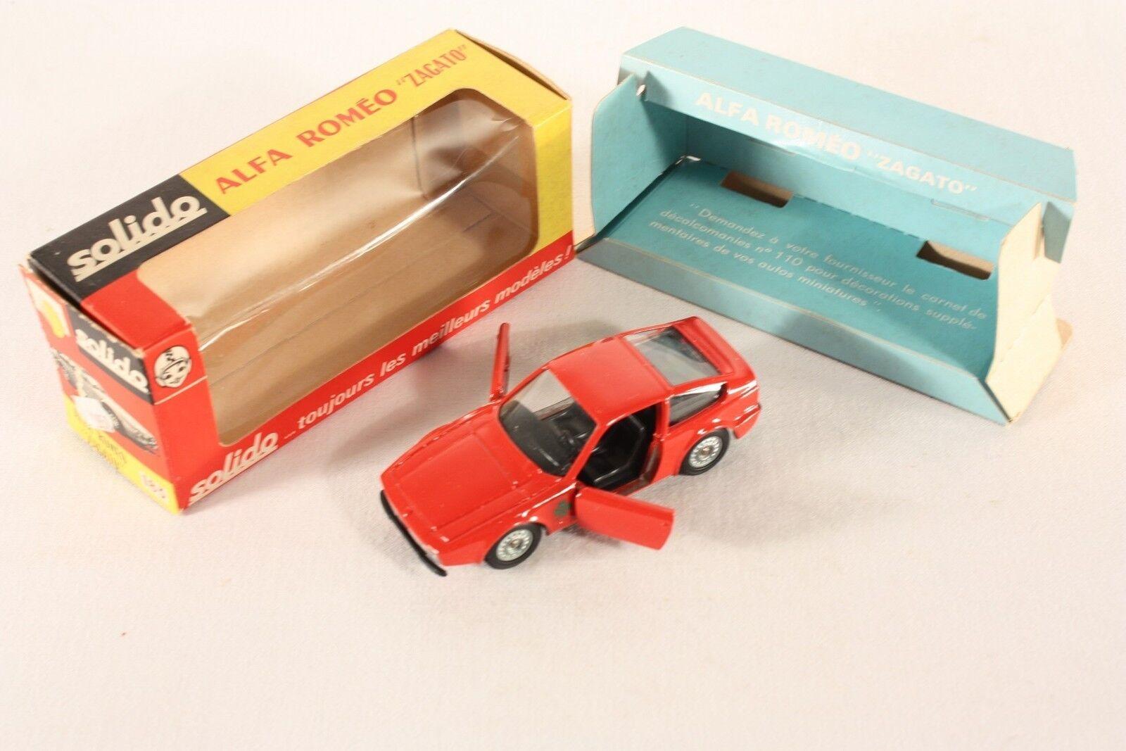 SOLIDO 183, Alfa Romeo Zagato, Comme neuf Dans Box  ab756