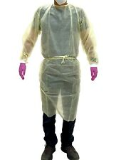 Isolation Gowns Knit Cuff 20 G Pp Medical Dental Latex Free Fluid Resistant