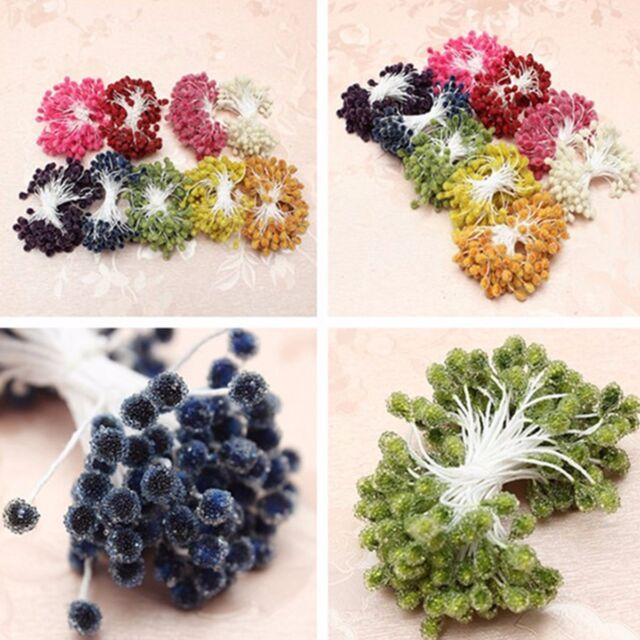80~400pcs 5mm Artificial Flower Stamen Double Head Pearlized Craft Cake Decor