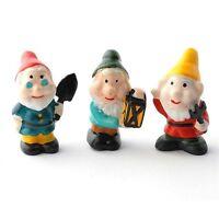 Reutter Porzellan 3 Garden Gnomes / 3 Porcelain Garden Gnomes Dollhouse 1:12
