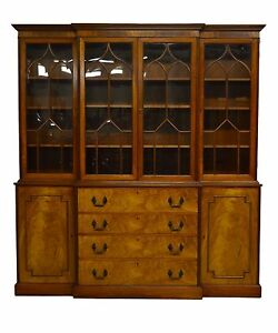 Perfect Image Is Loading Kaplan Furniture Beacon Hill Collection 2pc Mahogany  Breakfront
