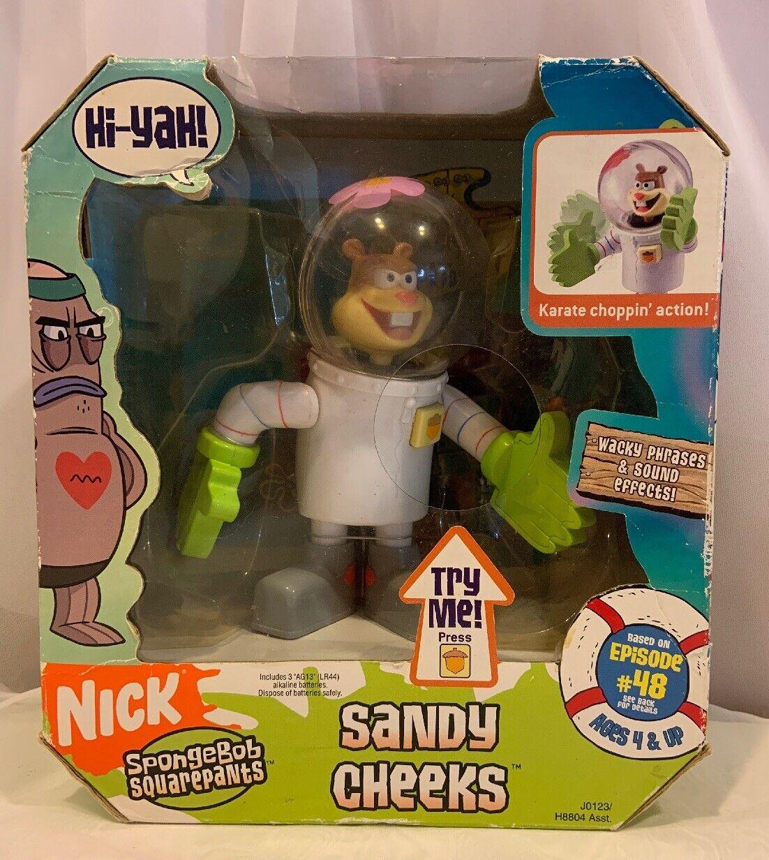 Nick Spongebob SquareHose Sandy Cheeks Karate Action Figure New In Box