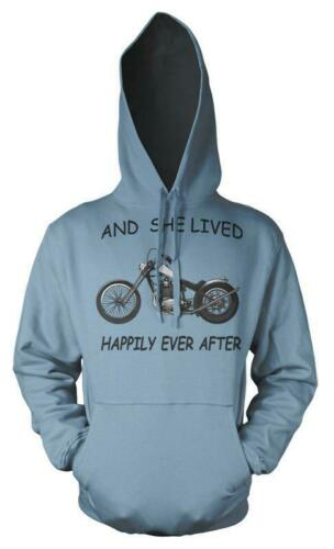 And She Lived Happily Ever After  Motorcycle Adult Hoodie