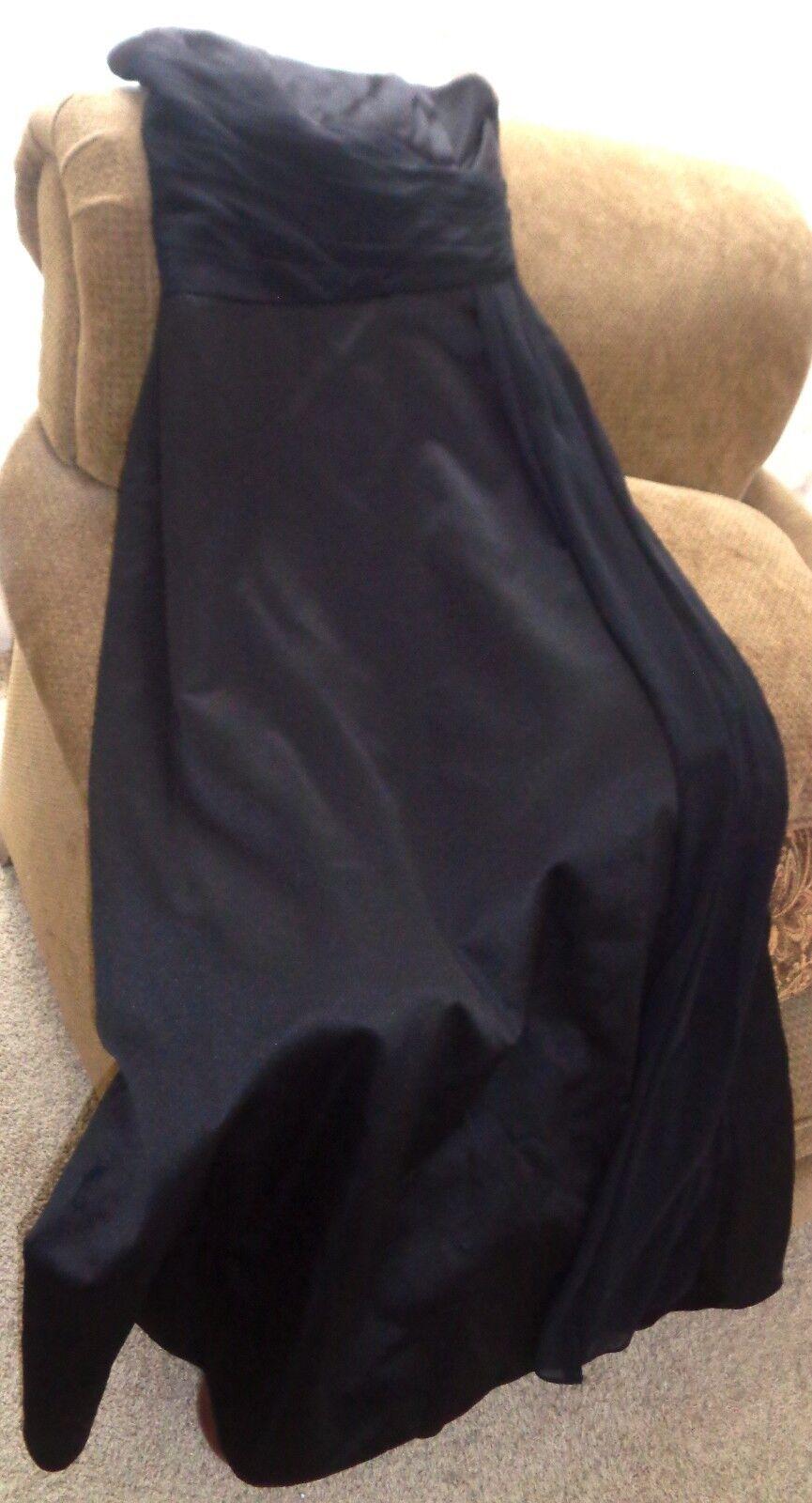 schwarz Satin Strapless Floor-Length Bridesmaid's Dress, US Größe 8