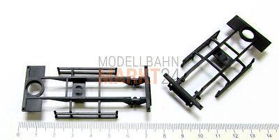 10x Albedo Ersatzteil Anhänger-chassis Fahrgestell Rahmen Schwarz 1:87 H0 - 2467