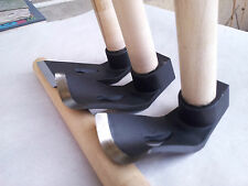 ? SET OF THREE WOOD CARVING BOWL ADZE TOOLS - STRAIGHT - BIG - SMALL CURVED ADZE