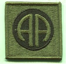 US Army 82nd Airborne OD Subdued Patch IRON ON