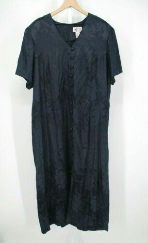 Vintage Alix Taylor Dress Womens Plus 24 Black Ray
