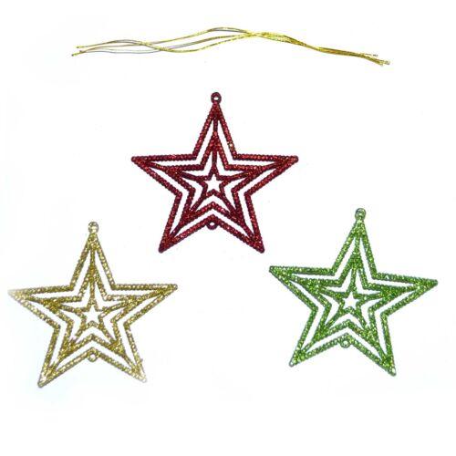 3Pcs paillettes arbre de Noël Décoration De Noël Décoration Maison Fête ornement suspendu