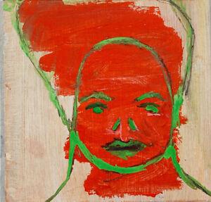 Original-Outsider-Art-Portrait-Painting-Genteel-Lady-Katie-Jeanne-Wood