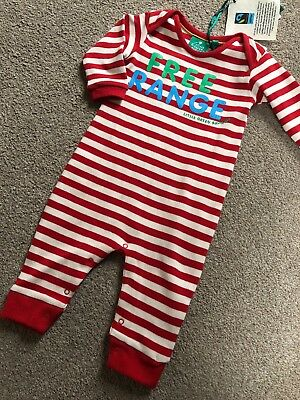 Kite Organic Cotton Rainbow Knit Bear Romper Baby Boys0-3 3-6 6-9 9-12 Months