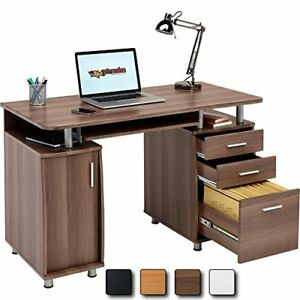 Image Is Loading Walnut Computer Desk Office PC Table CPU Storage