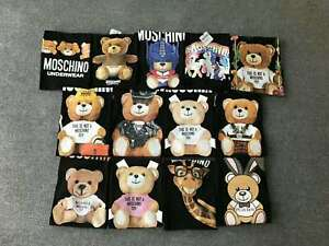 Multi-color-NEW-MEN-039-S-WOMEN-Moschino-Teddy-bear-Top-Tee-SHORT-SLEEVE-T-SHIRT