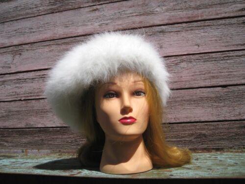 BERET HAT BEANIE handknitted  ANGORA RABBIT BUNNY yarn Russian craft super soft