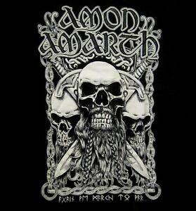AMON-AMARTH-cd-lgo-BEARDED-SKULL-Official-Black-SHIRT-LRG-new