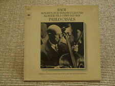 Bach 3 sonate per violoncello e pianoforte Pablo Casals LP Slavati (M-to EX +)