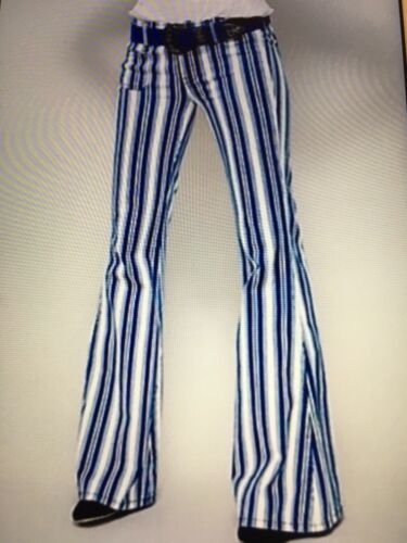 Free People... Jolene Striped Bell Bottom Flare Bo