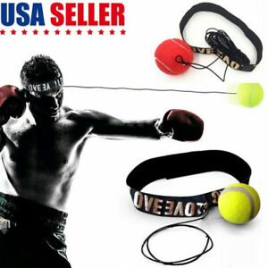 Boxing Punch Fight Ball Bag Reflex Speed Reaction Combat Kit For Muscle Exercise