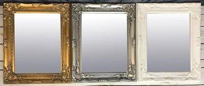 Half Price Silver White Black Gold Small Ornate Wall Mirror Size 52x42 Cm Ebay