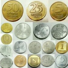 Set 18 Different Israeli Coins Collection : Shekel Agora Lira israel Collectible