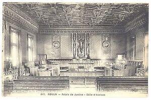CPA-76-ROUEN-Seine-Maritime-617-Palais-de-Justice-Salle-d-039-Assise-ELD