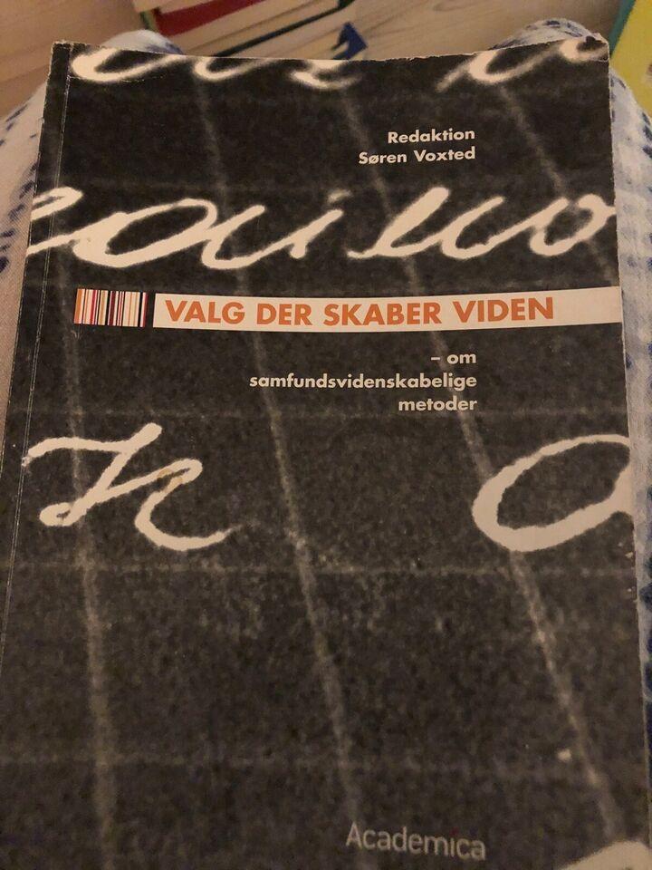 Valg der skaber viden, Søren Voxted (red.), emne: historie